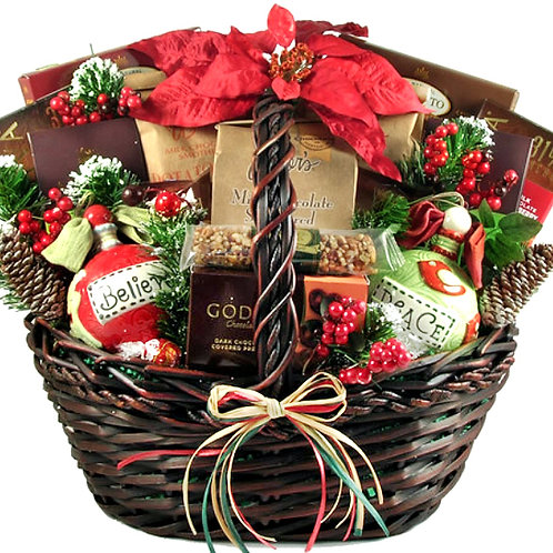 Homespun Holiday Gift Basket, Perfect Office or Family Gift