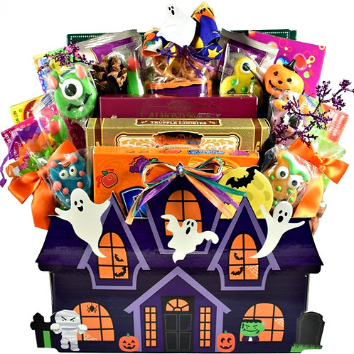 Halloween Haunted House, Hauntingly Good Gift Basket