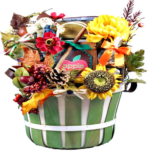 Deluxe Fall Harvest Gift Basket, Beautiful Thanksgiving Gift Idea
