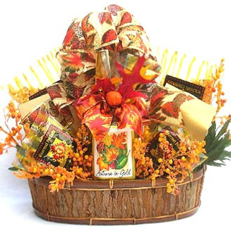 Autumn In Gold Fall Gift Basket