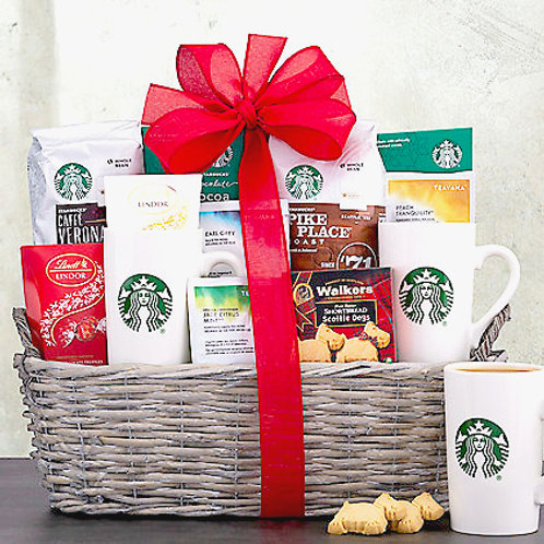Starbucks Spectacular, Coffee, Tea & Food Gift Basket