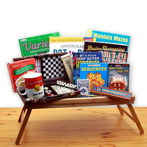 Rest & Recovery Get Well Gift Tray, Speedy Recovery Gift Basket