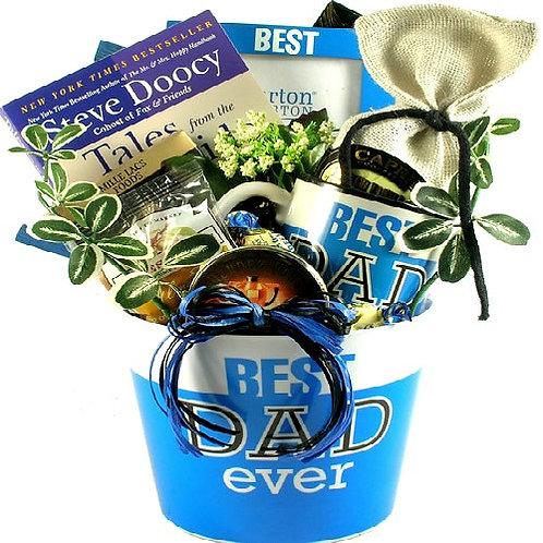 Best Dad Ever, Fantastic Gift Basket For Dad