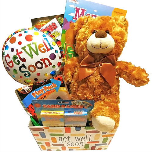 Get Well Gift Basket for Boys and Girls with Fun Things to Do for Ages 3 to 9