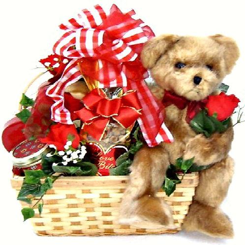 Romantic Bear Hug Gift Basket