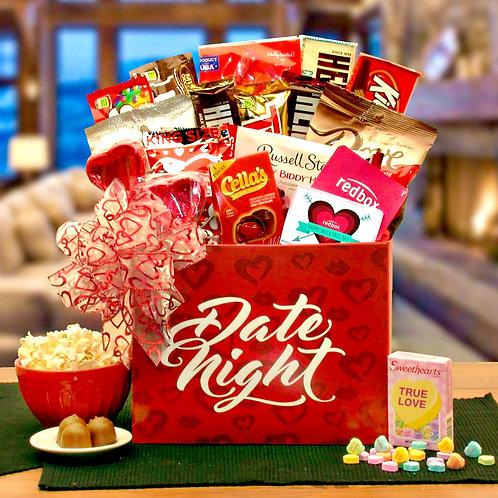 Valentine's Day Date Night Gift Box, Sweet Treats & Romance