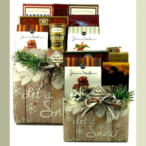 Let It Snow-Man Holiday Gift Basket
