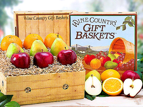 Farm Fresh Fruit Gift Collection, Apples, Pears, Oranges