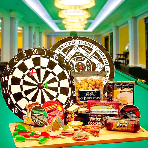 Deluxe Bullseye Dartboard and Gourmet Gifts