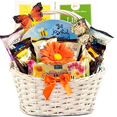 Joy And Inspiration Gift Basket, Scrumptiously Sweet Snacks