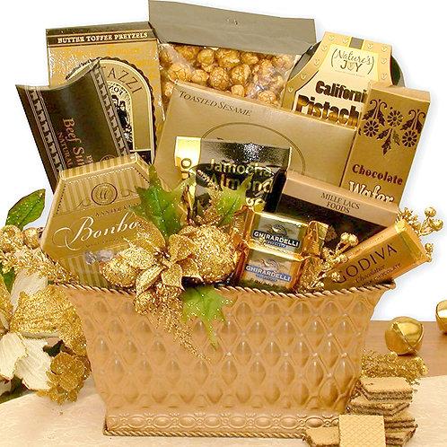 Holiday Gold, Joyous Greetings Christmas Gift Basket