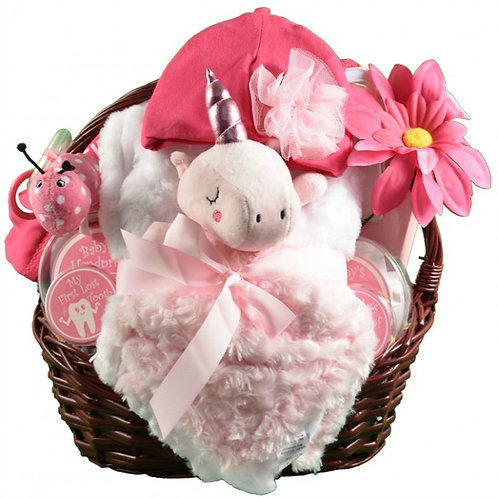 Unicorn Dreams, Heavenly Baby Girl Gift Basket