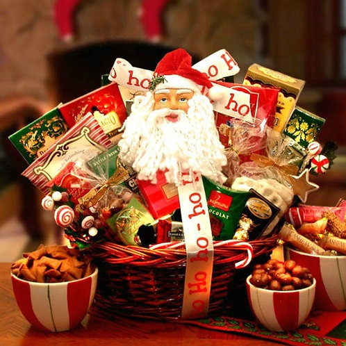 Santa Claus Sweet Shop Gift Basket