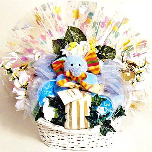 Mommy & Me, A Sweet Baby Gift Basket For New Baby & Mom Gift