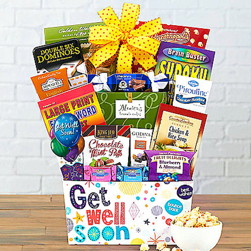 Bed Rest Gift Basket, Get Well Gift For Someone Under The Weather