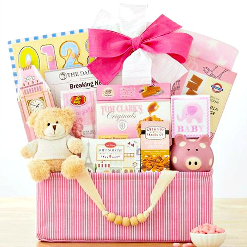 Bundle Of Joy, Welcome New Baby Girl Gift Basket