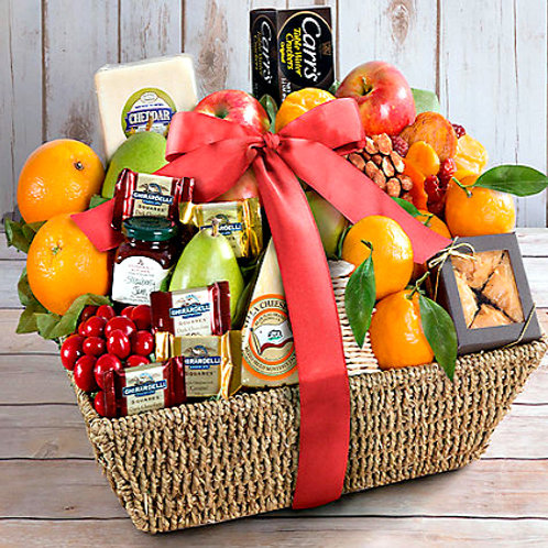 Fresh Fruit, Sweet and Savory Snacks Gourmet Gift
