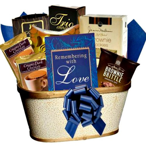 Remembering With Love, Thoughtful Condolences Gift Basket