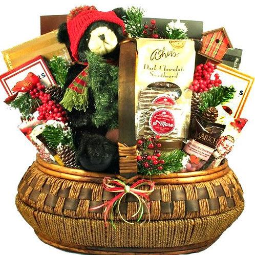 Cozy Lodge Christmas Basket