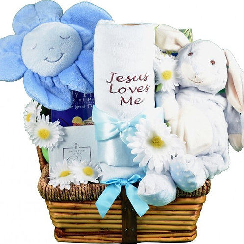 Jesus Loves Me, Baby Gift Basket For New LIttle Angel