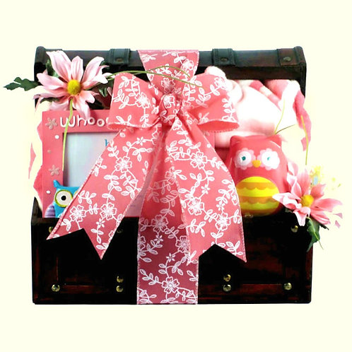 Cutie Pie, New Baby Girl Gift Basket