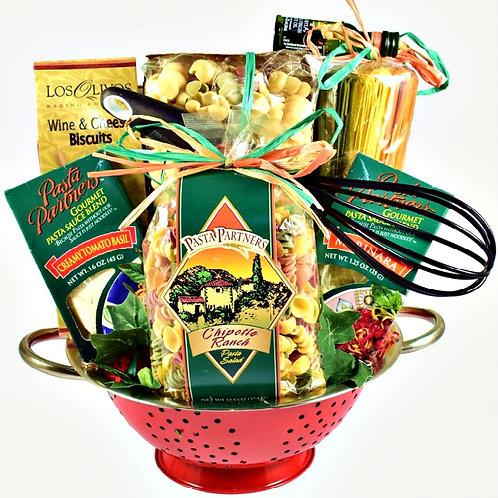 Taste of Italy, Gourmet Italian Food Basket, Deluxe Colander