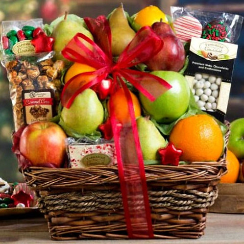 Holiday Fruit and Sweets Basket