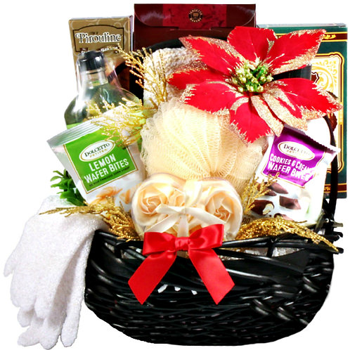 Holiday Spa Gift, Relaxing Christmas Gift Basket for Her