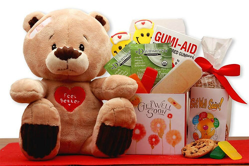 Plush Teddy Bear, Get Well Gift Set