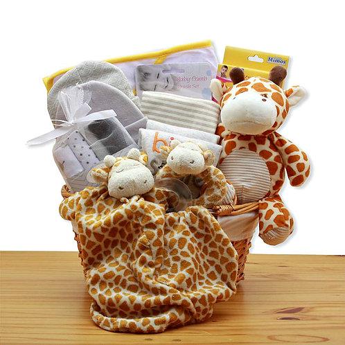 Jungle Safari New Baby Gift Basket