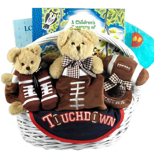 Football Themed Baby Boy Gift Basket