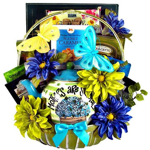 Lovely Teapot Gift Basket For Mom