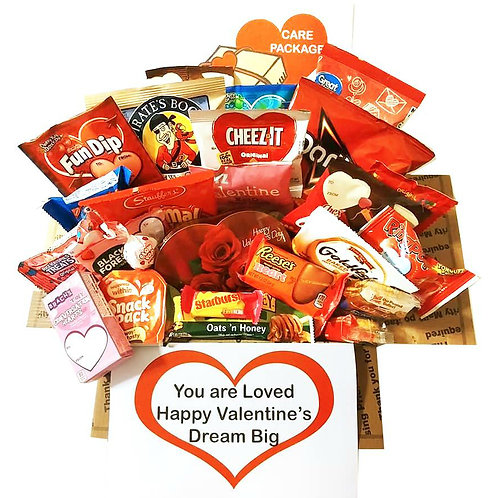 Valentine's Day Care Package with Chocolate, Candy, Snacks
