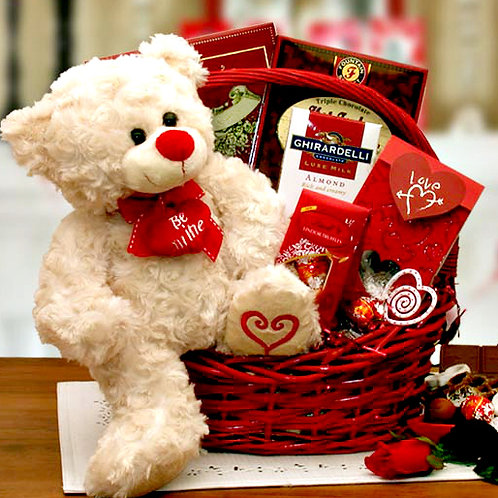 Teddy Bear & Chocolates XOXOX Valentine's Day Gift Basket