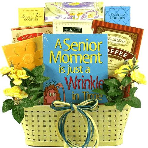 Wrinkle In Time, Senior Moment Birthday Celebration Gift Basket
