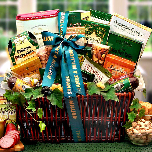 Many Thanks! High-Quality, Stylish Thank You Basket