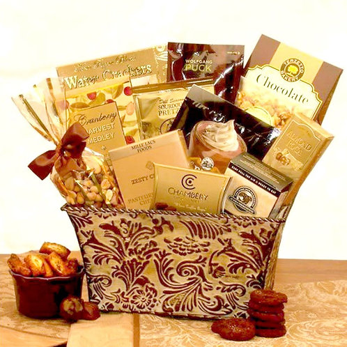 Sumptuous Sophistication, Gourmet Gift Basket