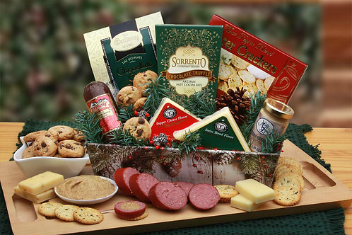 Holiday Gift Tray With Sausage, Cheese, Cookies & More!