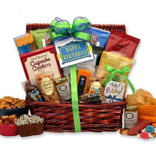 Surprise Birthday Gift Basket for Him