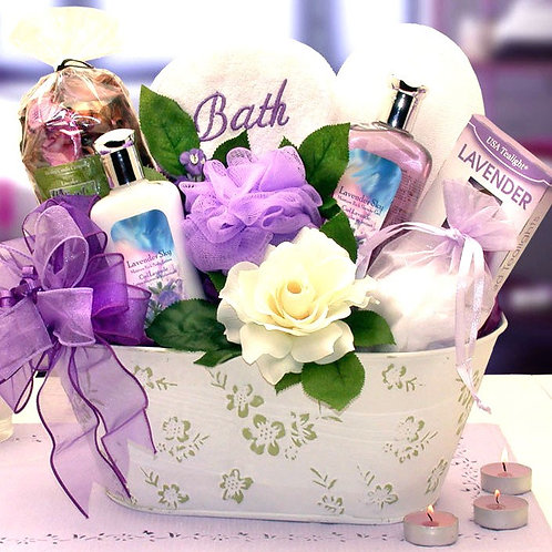 Lavender Luxuries, Bath and Body Basket