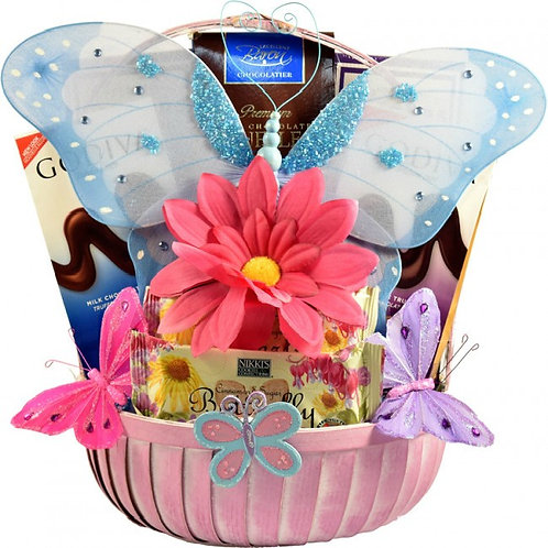 Butterfly Themed Gift Basket for Her