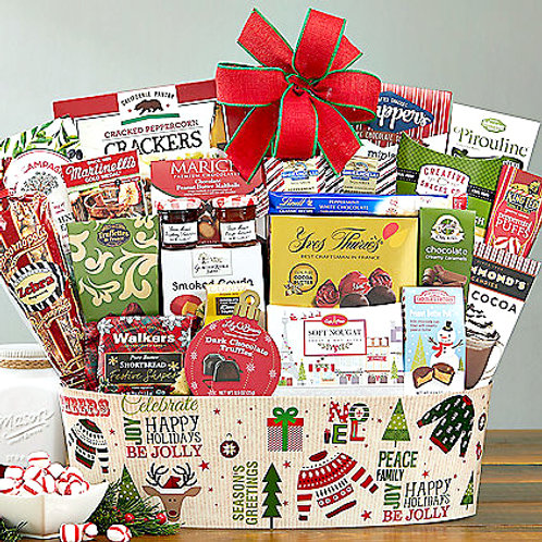 Say Happy Holidays With This Big Bountiful Holiday Gift Basket