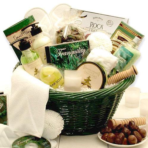 Soothing Pamper Spa Basket, Moisturizing Bath Luxuries & CD