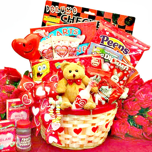 A Gift Basket For My Sweet Little Valentine, Children's Gift Basket
