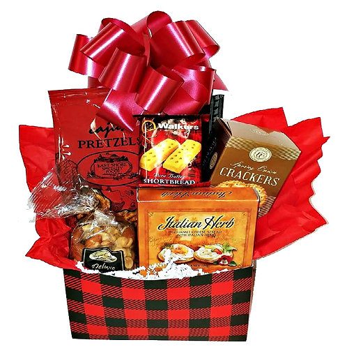 Men's Care Package With Sausage, Cajun Pretzels, Nuts & Cheese