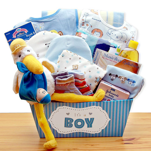 Special Delivery, Baby Boy Gift Basket