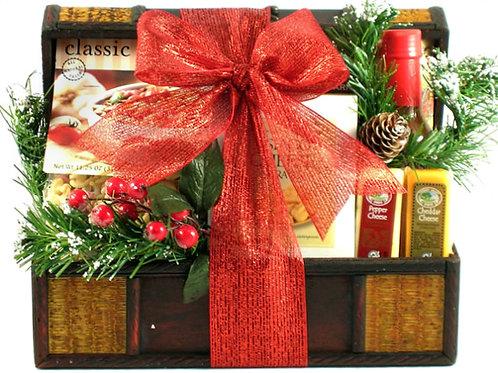 Holiday Treasure Chest, Beautiful Christmas Gift Basket!