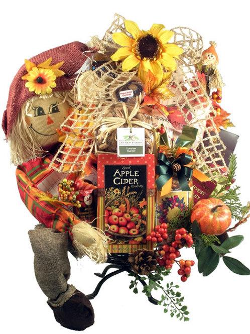 Simply Speechless, Fall Gourmet Gift Basket & 2-Tier Twig Basket