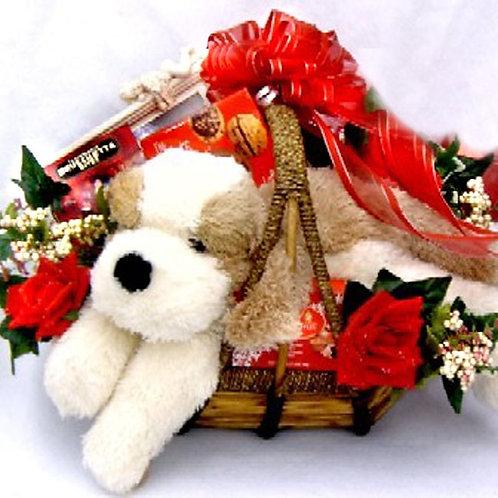Puppy Love, Romantic Gift Basket
