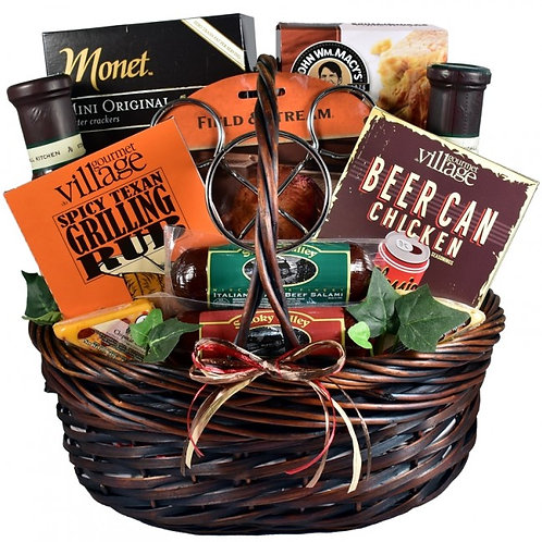 Barbeque Gift Basket For Him, Great Grilling Gift
